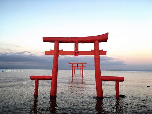 日本佐賀 太良町-海中鳥居 たら竹崎温泉夜灯見荘大啖海鮮
