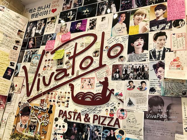 首爾Vivapolo義大利麵店-給你滿滿的燦烈 EXO-L快來報到!